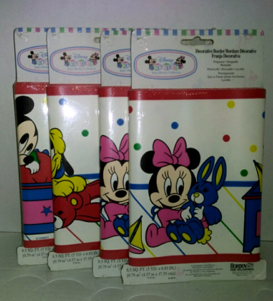 Borden Disney Babies Wall Border Lot of 4 - We Got Character
