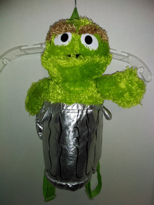 Oscar The Grouch Plush Backpack - We Got Character