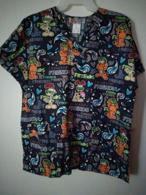 Garfield & Odie Scrub Top - We Got Character