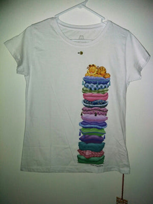 Garfield White T-shirt Size M - We Got Character