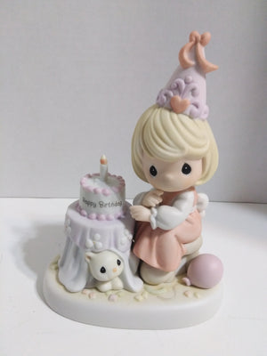 Precious Moments Figurine Count Each Birthday With A Joyful Smile - We Got Character