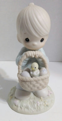 Precious Moments Figurine Wishing You A Basket Full of Blessings-We Got Character
