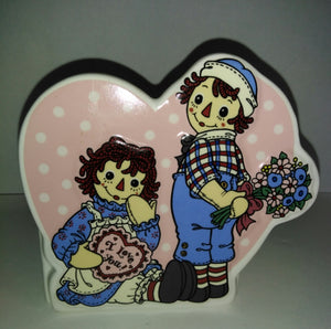 Raggedy Ann and Andy Vase-We Got Character