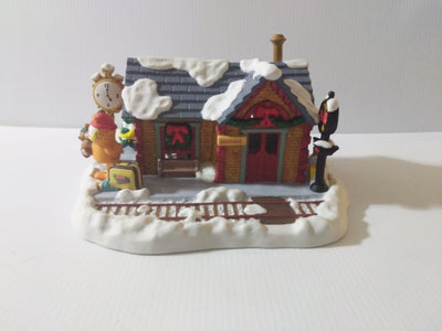 Garfield Christmas Danbury Mint Train Railroad Station - We Got Character