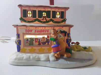 Garfield Danbury Mint Christmas Village Toy Shoppe-We Got Character