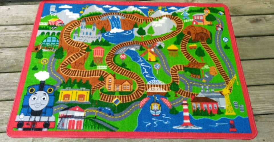 Thomas The Tank Engine Blue Mountain Rug-We Got Character