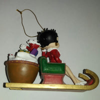 Betty Boop Christmas Ornament Sleigh-We Got Character
