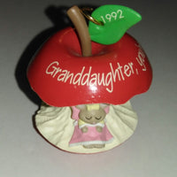 1992 Hallmark Granddaughter, You're The Apple Of My Eye Ornament-We Got Character