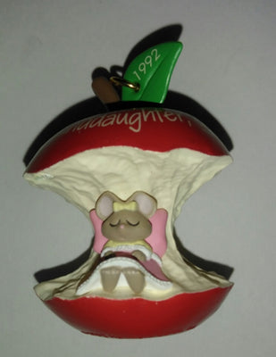 1992 Hallmark Granddaughter, You're The Apple Of My Eye Ornament - We Got Character