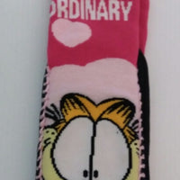 Garfield Pink Slipper Socks I Don't Do Ordinary-We Got Character