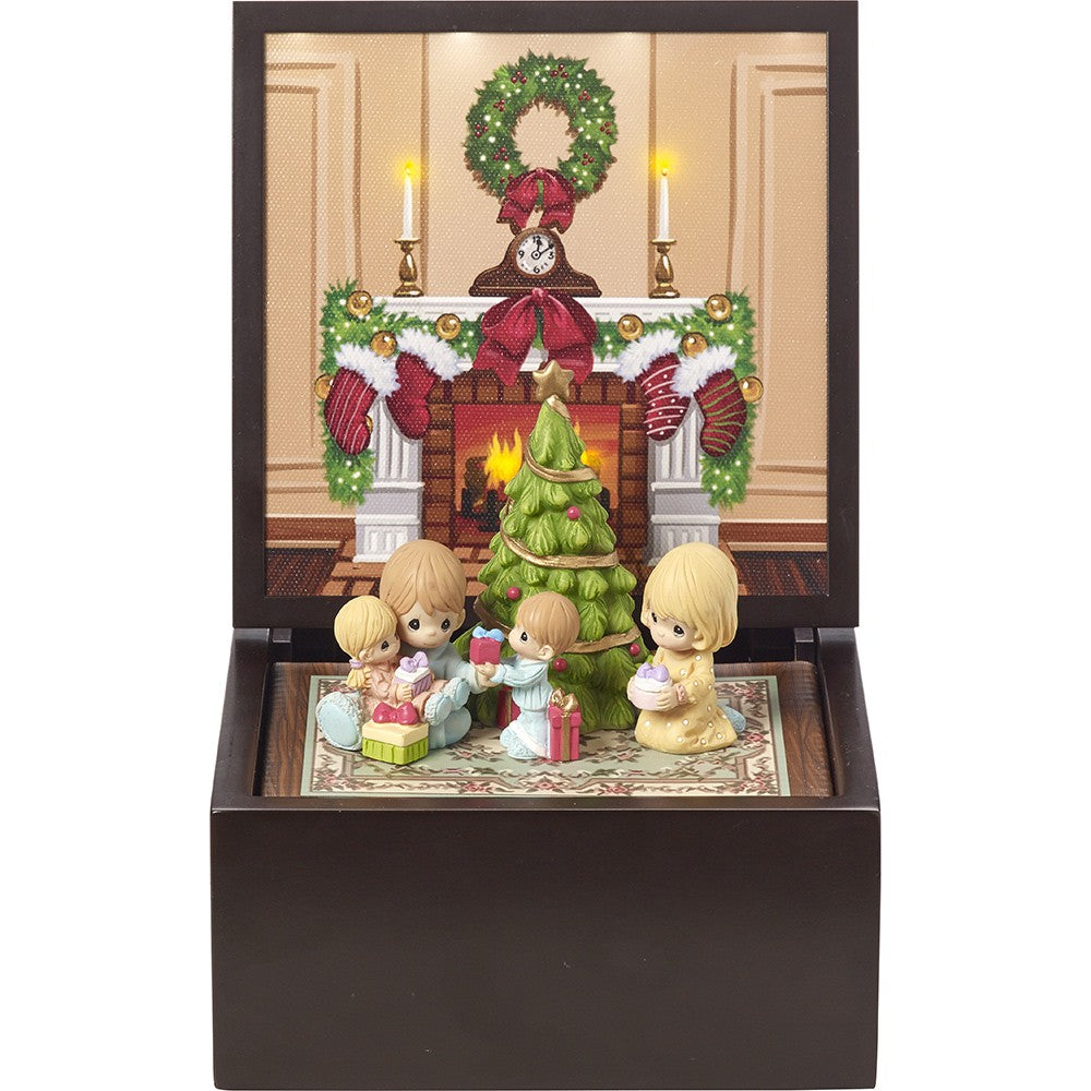 "Precious Moments Heirloom ""Family Christmas"" Deluxe Music Box, Lighted-We Got Character"