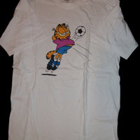 Garfield White Soccer T Shirt-We Got Character
