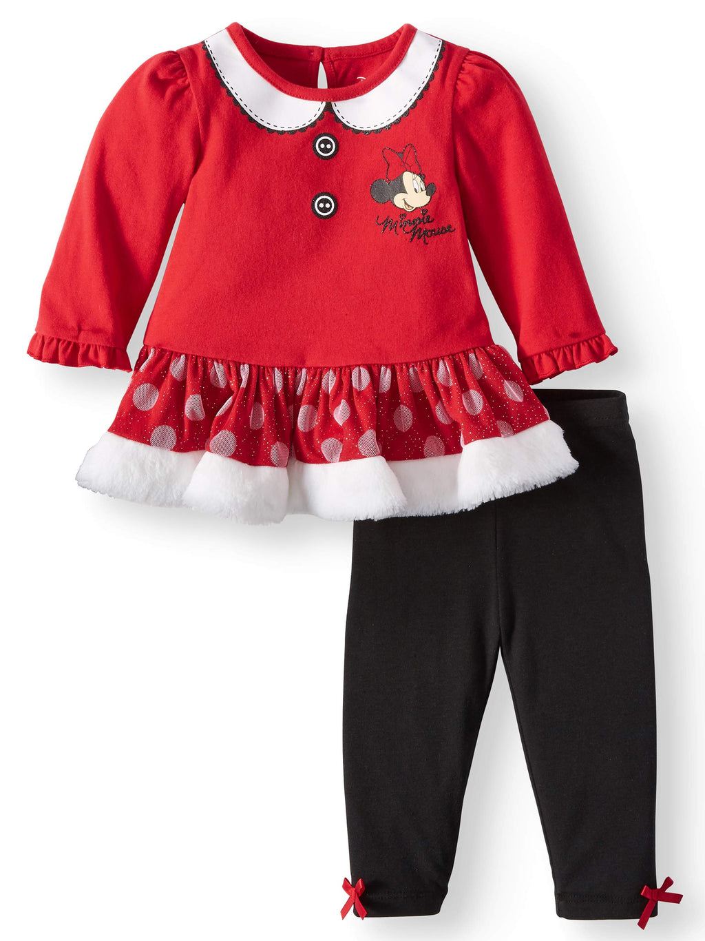 Minnie Mouse Long Sleeve Tutu Dress & Tights, 2-Piece Outfit Set (Baby Girls)-We Got Character