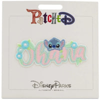 Disney Patched Stitch Ohana Flowers Embroidered Patch-wegotcharacter.com