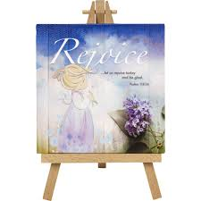 "Precious Moments ""Rejoice"" Home Decor Canvas with Easel - We Got Character"