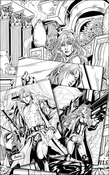 Dark-Hunter Digital Coloring Poster Bundle