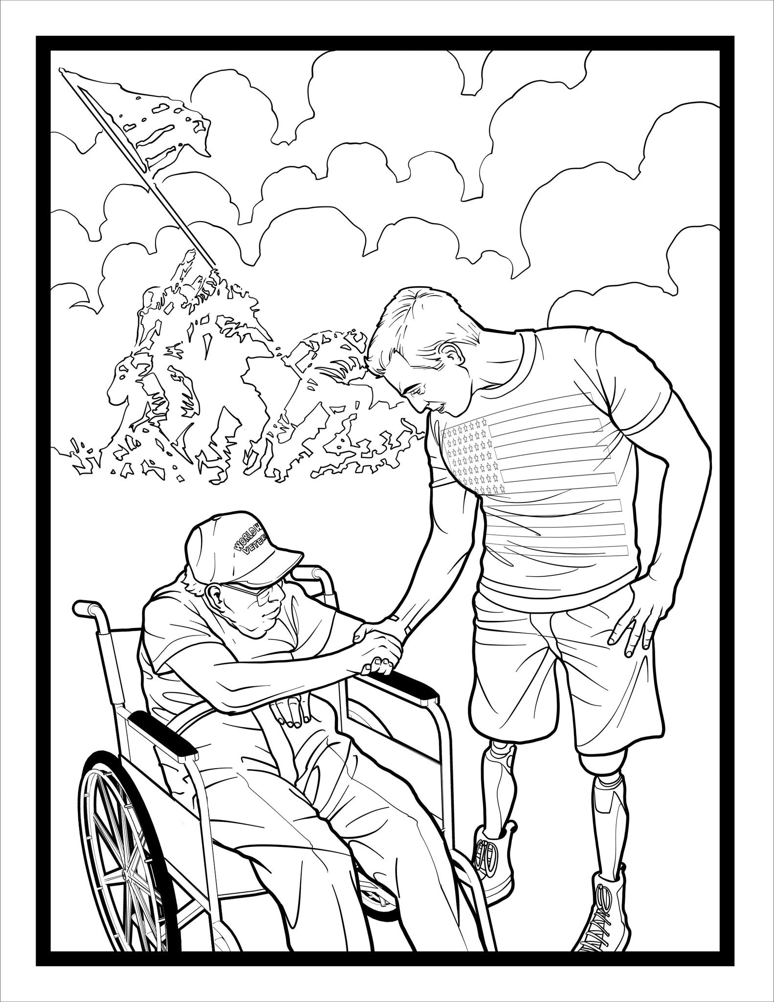 Book coloring -  Blown Away The Story Of Ssgt Johnny Joey Jones Coloring Book