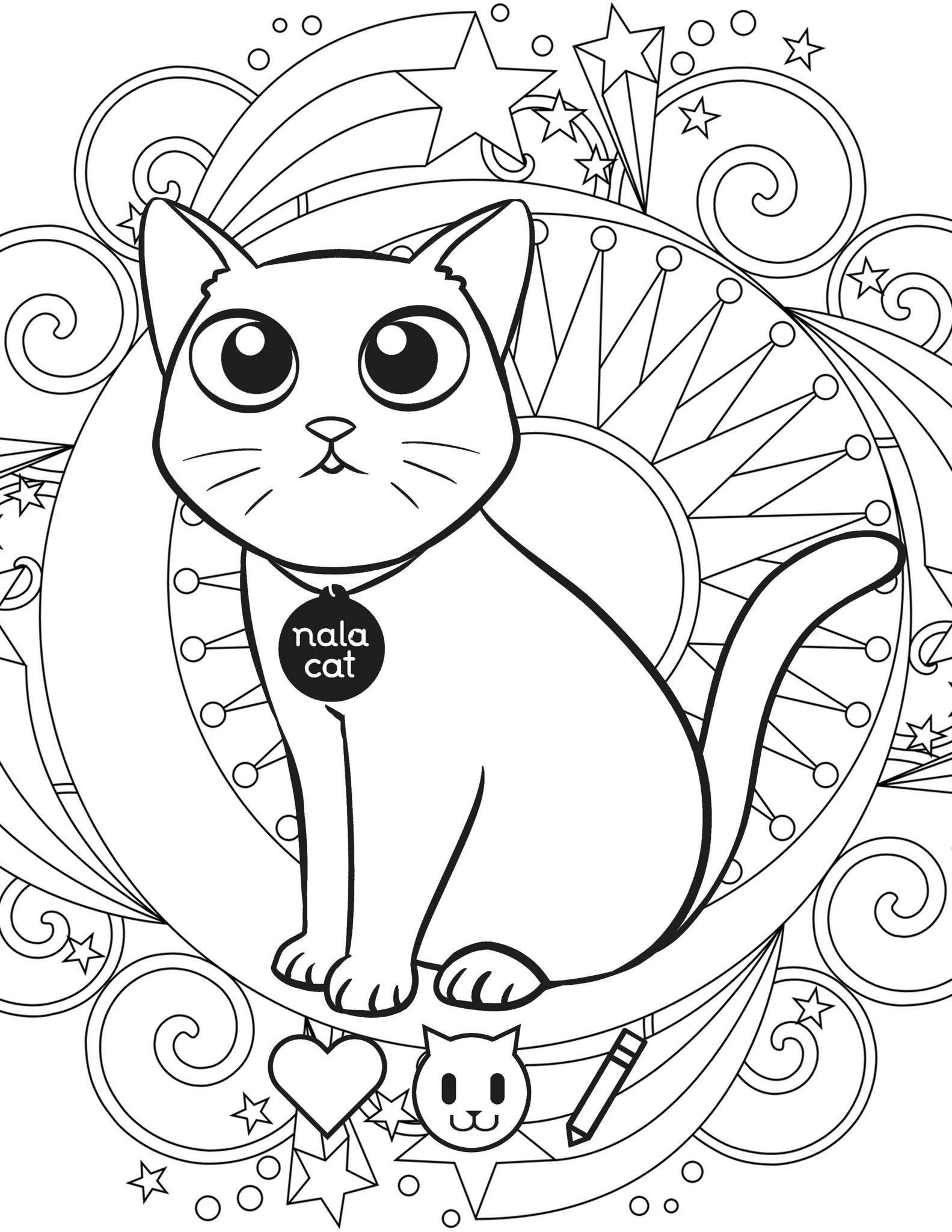 Nala Cat Coloring Book Dabel Brothers
