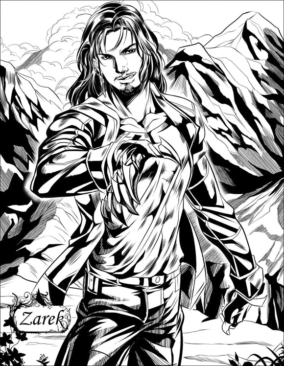 Dark-Hunter Digital Coloring Page (Zarek)