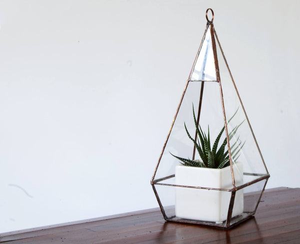Teardrop Hanging Glass Terrarium