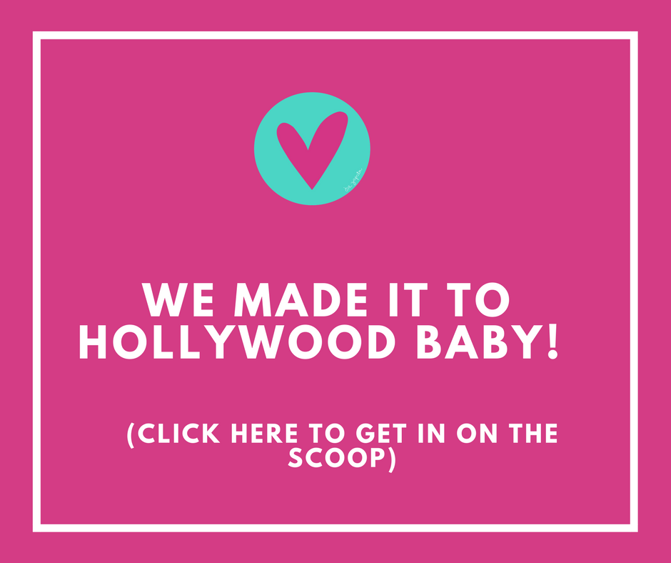 We've made it Hollywood baby!
