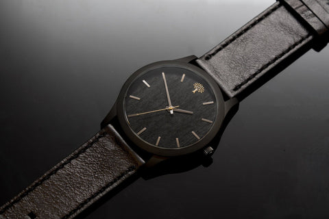 The Boylan Wood Watch - Black & Gold