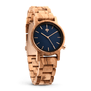 The Gaston Wood Watch- Womens Model- Olive Wood- Wooden Band - Wood watches