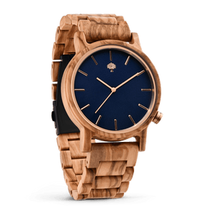 The Gaston Wood Watch- Olive wood- Wooden Band - Wood watches
