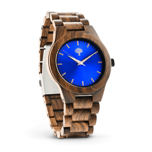 The Bendemeer Wood Watch - Blue - Wood watches