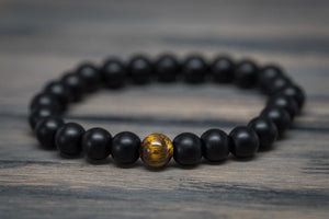 Tiger Eye Matte Onyx Bracelet - Wood watches