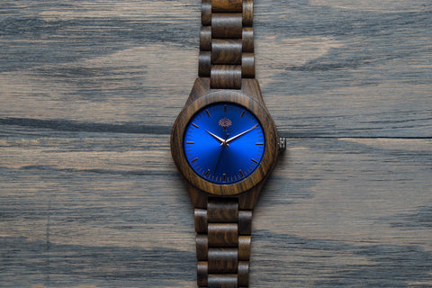 The Bendemeer Wood Watch - Blue