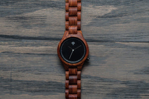 The Parkchester Wood Watch- Red Pau Rosa- Womens - Wood watches