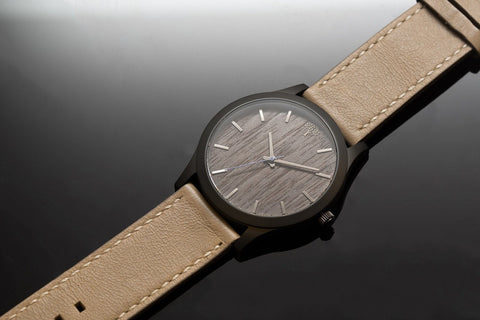 The Boylan Wood Watch - Black & Tan