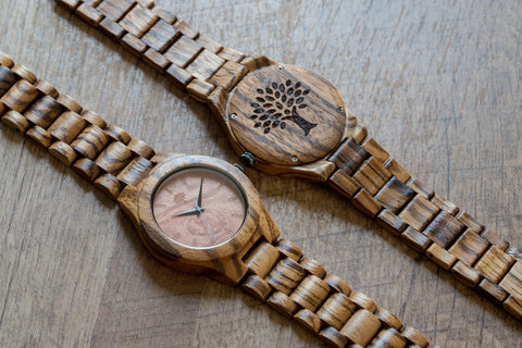 The Bendemeer Wood Watch - Zebra Burl