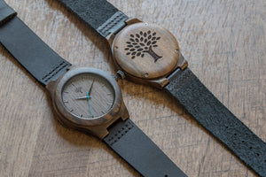 The Bendemeer Wood Watch - Black Leather - Wood watches