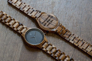 The Parkchester Wood Watch- ZebraWood - Wood watches