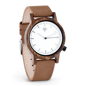 The Gaston Wood Watch- Womens Model- Chanate- Brown Leather - Wood watches