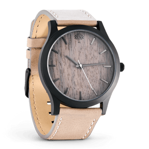 The Boylan Wood Watch - Black & Tan - Wood watches