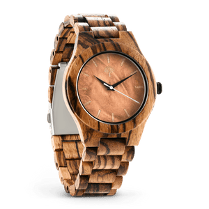 The Bendemeer Wood Watch - Zebra Burl - Wood watches
