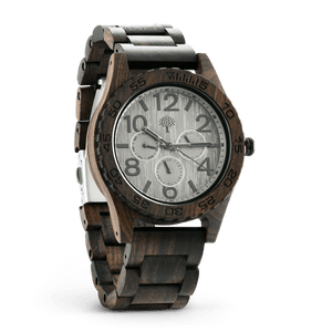 The Oakwood Wood Watch - Chanate- Silver - Wood watches