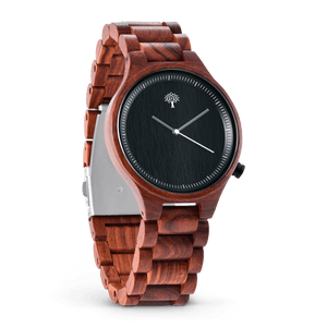 The Parkchester Wood Watch- Red Pau Rosa - Wood watches
