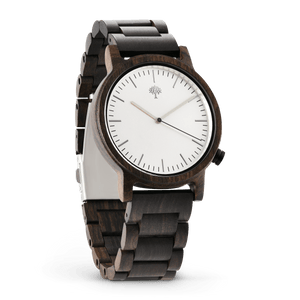 The Gaston Wood Watch- Chanate wood- Silver- Wood Band - Wood watches