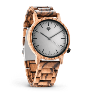 The Gaston Wood Watch- Zebra wood- Wood Band - Wood watches