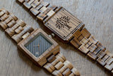 The Glenwood Wood Watch - Zebrawood- Black