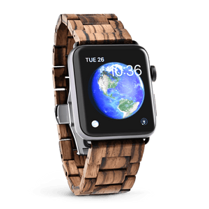 Apple Watch Wood Band- Zebrawood - Wood watches