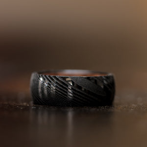 Damascus Steel Triple Black- Ironwood Inlay