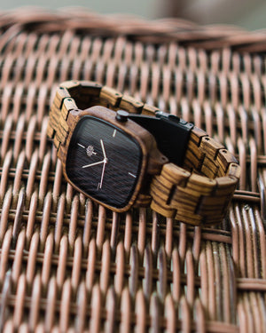 The Kerr Wood Watch - Zebra Wood - Wood watches