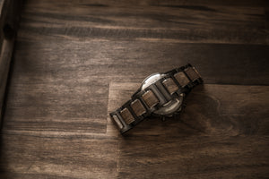 The Dawson Wood Watch -Gunmetal Stainless x Walnut