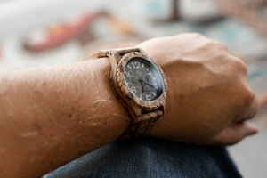 The Oakwood Wood Watch - ZebraWood - Wood watches