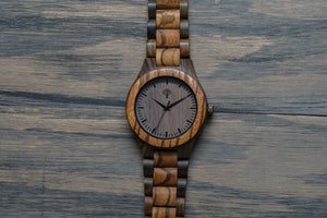 The Bendemeer Wood Watch - Zebra - Wood watches